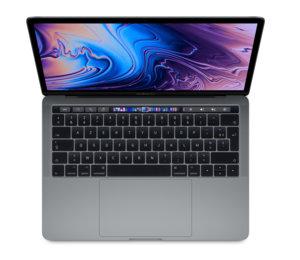 """Apple MacBook Pro 13"""" Touch Bar 2019 - 256 Go / i5 / Gris sidéral (nouveau)"""