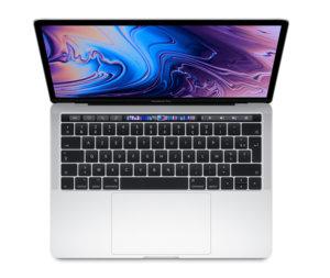 """Apple MacBook Pro 13"""" Touch Bar 2019 - 256 Go / i5 / Argent (nouveau)"""